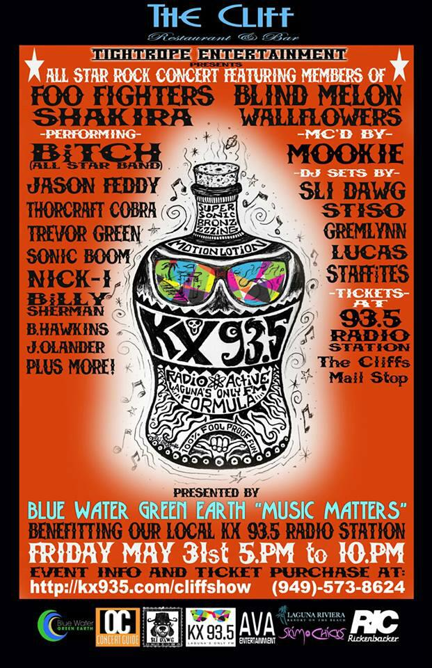 Blue Water Green Earth and KX 93.5 Benefit Show